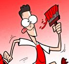 CARTOON: Ozil paints London red