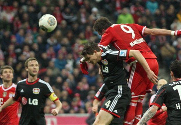 Mario Mandzukic leitete das Toreschießen der Bayern gegen Bayer 04 ein