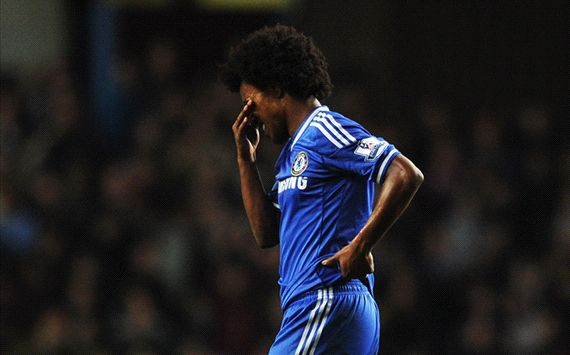 Willian Aston Villa Chelsea English Premier League 03152014