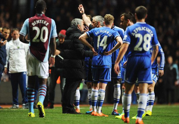 Mourinho fined 8,000 pounds for Aston Villa incident