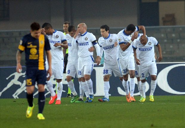 Hellas Verona 0-2 Inter: Palacio and Jonathan keep Nerazzurri's European hopes alive