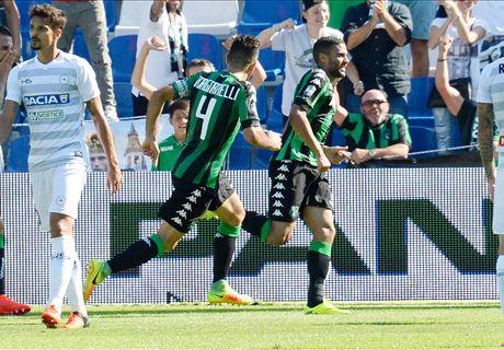 Udinese sfortunata, vince il Sassuolo