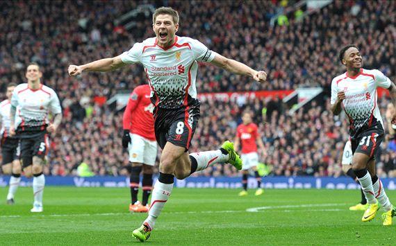 Steven Gerrard Manchester United Liverpool Premier League 03162014