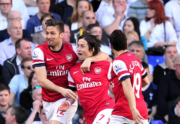 Tottenham 0-1 Arsenal: Rosicky rocket secures derby win for Gunners