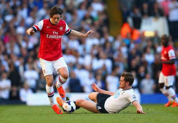 Rosicky and Koscielny revel in Arsenal derby triumph