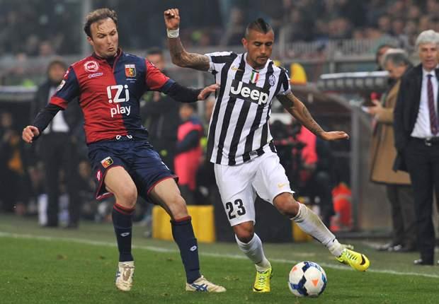 Giovanni Marchese Arturo Vidal Genoa Juventus Serie A 03162014