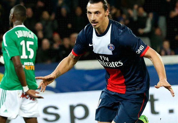Zlatan Ibrahimovic a déjà marqué 25 buts en Ligue 1 cette saison
