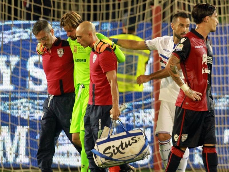 Tegola Cagliari: lesione del menisco per Storari, dovrà operarsi