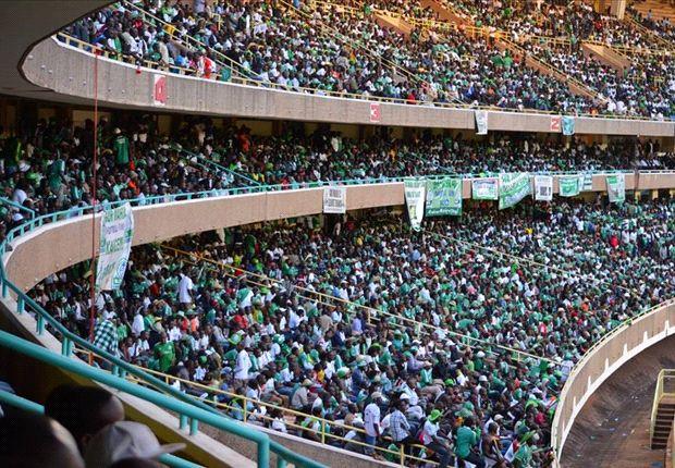 Gor Mahia fans at Kasarani Stadium.