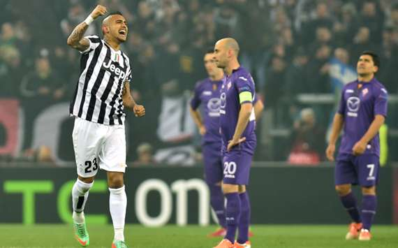 Juventus' Arturo Vidal.
