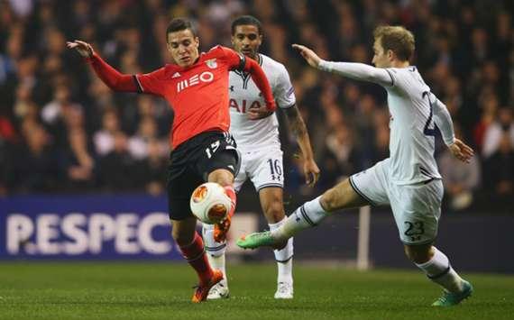 Benfica battle Tottenham in the UEFA Europa League