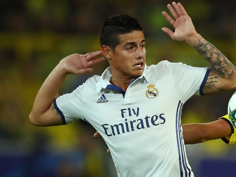 Real Madrid, James Rodriguez blessé à l'échauffement