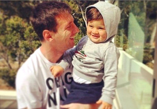 Antonella Roccuzzo felicita a Lionel Messi por el Día del Padre