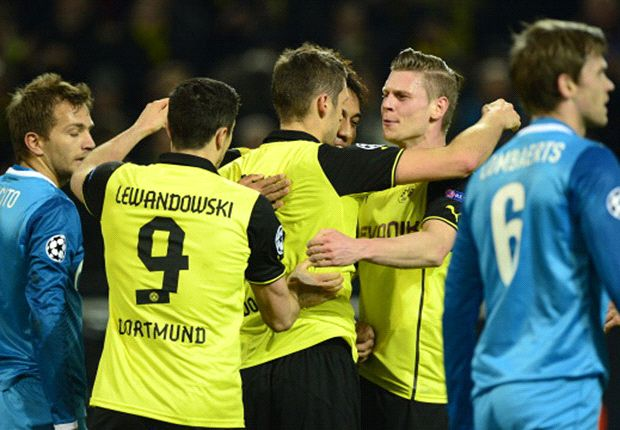 Borussia Dortmund 1-2 Zenit (agg 5-4): Hulk stunner not enough to halt Klopp's men