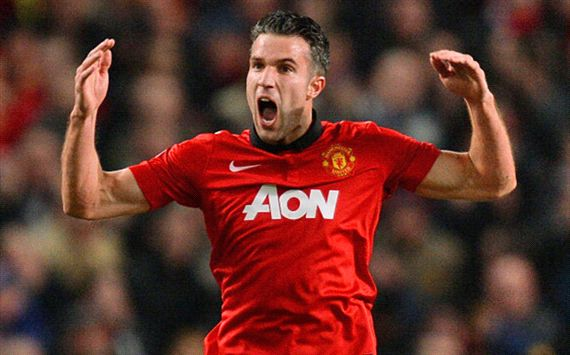 Robin van Persie Manchester United Olympiakos Champions League 03192014