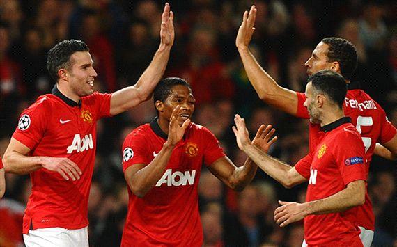 Robin van Persie Manchester United Olympiakos Champions League 03192014