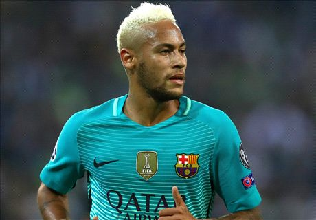 Neymar tops Messi in first 100 Liga games