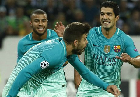 Barca turns it around at Gladbach