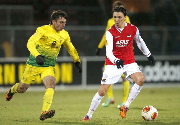 Alkmaar ist eine Runde weiter, Anzhi muss sich verabschieden