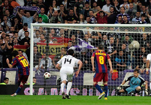 Messi es un experto en marcar en el Bernabéu