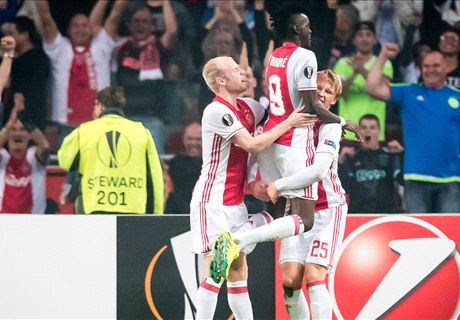 Ajax fier aan kop in Europa League