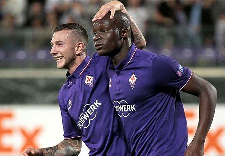 Babacar con Kalinic, Fiorentina d'attacco