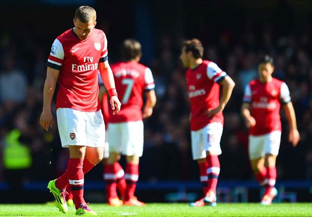 Podolski: Arsenal must not let Chelsea thrashing destroy season
