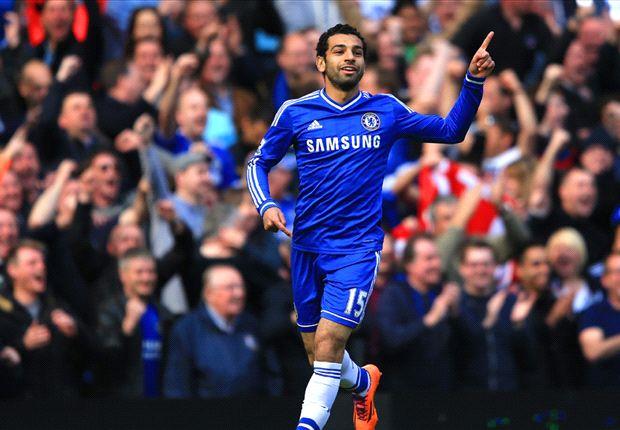Salah fue titular y marcó el primer tanto de los suyos