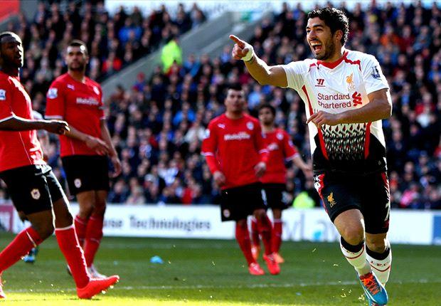 Cardiff 3-6 Liverpool: Luis Suárez pisa el acelerador de la Premier League