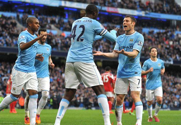 Manchester City 5-0 Fulham: Toure Yaya se divierte con el colista