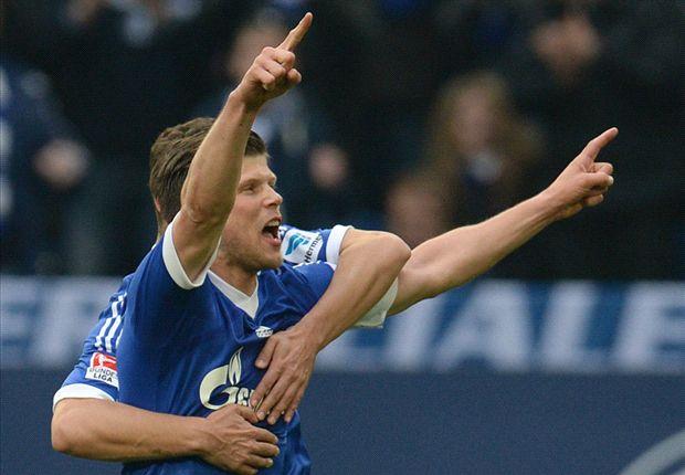 Freude auf Schalke: Mit 3:1 bezwingt der S04 Eintracht Braunschweig
