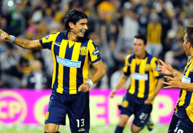 Abreu mostró su clase en el tercer gol de Rosario.