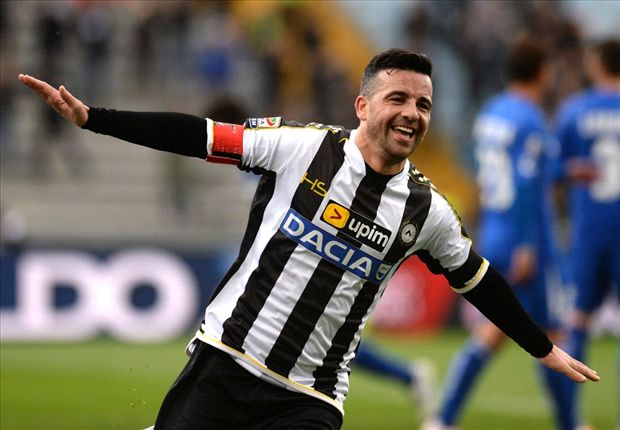 Udinese star Di Natale to postpone retirement plans