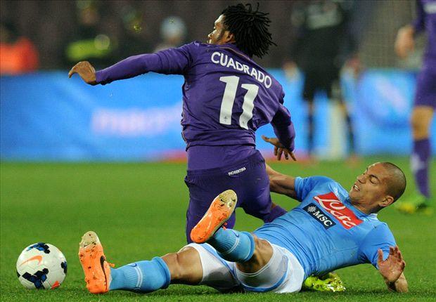 Napoli 0-1 Fiorentina: Joaquin downs 10-man hosts