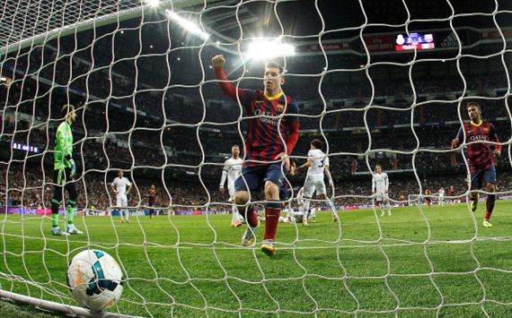 LIONEL MESSI REAL MADRID BARCELONA LA LIGA 03232014