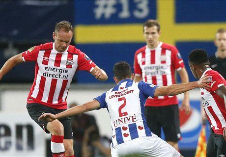 PSV ontwaakt laat tegen Heerenveen