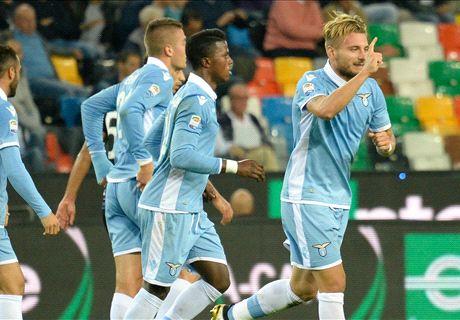 L'Udinese è 'Immobile', la Lazio fa tris