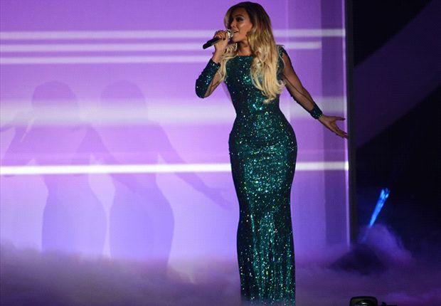 Messi presenció el recital de Beyoncé en Barcelona