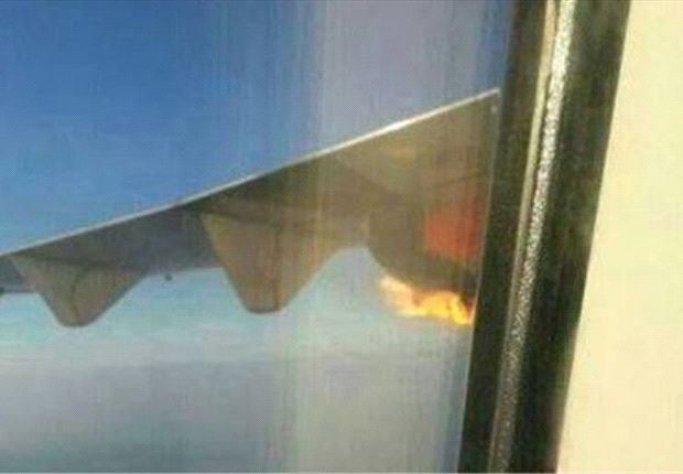 Malindo Air plane carrying Terengganu football team catches fire