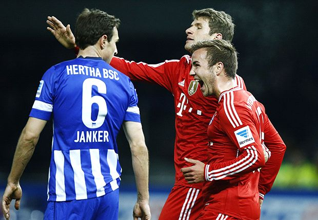 Hertha Berlin 1-3 Bayern Munich: Bavarians clinch Bundesliga title in record time