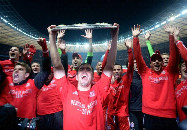 Bayern München feiert den Meistertitel in der Bundesliga