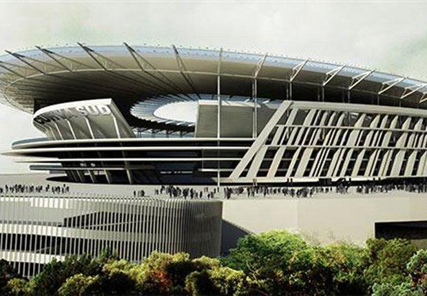 """Así lucirá el nuevo estadio de Roma en el área romana de """"Tor di Valle""""."""