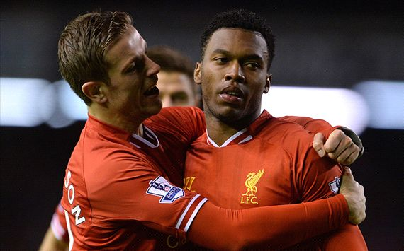 Daniel Sturridge Jordan Henderson Liverpool Sunderland English Premier League 03262014