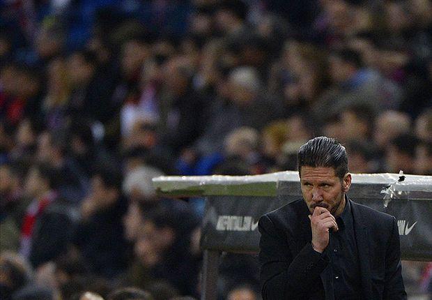 Atletico boss Simeone: Fixture list makes me nervous