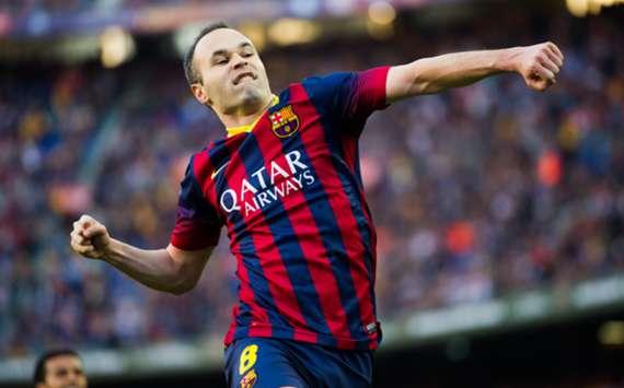Barcelona midfielder Andres Iniesta