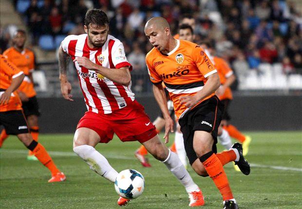 Almería 2-2 Valencia: El equipo ché tira por la borda la ventaja y se descuelga de Europa