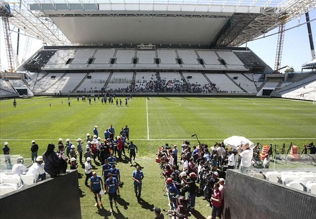 Work suspended on Corinthians Arena