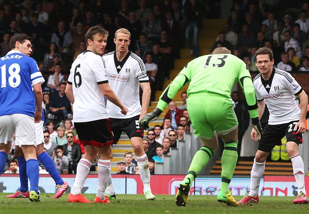 Fulham 1-3 Everton: Mirallas & Naismith dent survival hopes for Magath's men