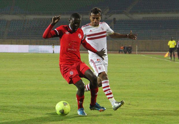 Nkana against Zamalek in Caf competition