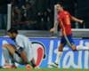 Buffon a terra mentre Vitolo esulta